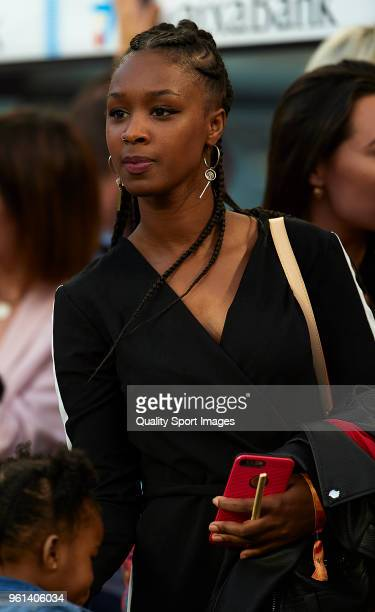 Marlene Alvarenga wife of Nelson Semedo attends the La Liga match between Barcelona and Real Sociedad at Camp Nou on May 20 2018 in Barcelona Spain