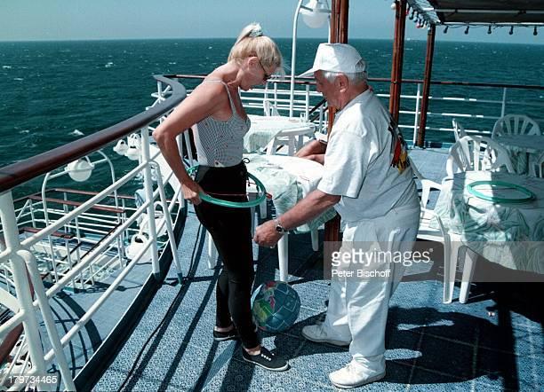 Marlene Charell mit Ehemann RogerPappini auf dem Luxusliner CalypsoSee Kreuzfahrt Urlaub