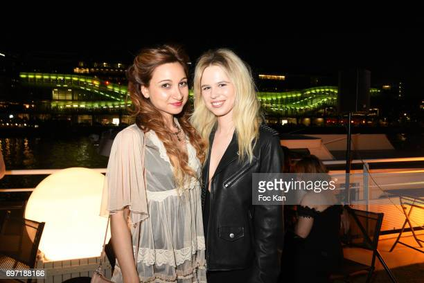 Marlene Delcambre and Julie Jardon attend Croisiere Show hosted by SO Life at Alizee Boat on June17 2017 in Paris France