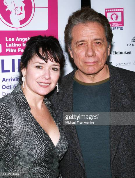 Marlene Dermer and Edward James Olmos during Yellow Screening at the Los Angeles Latino International Film Festival 2006 at Egyptian Theater in...