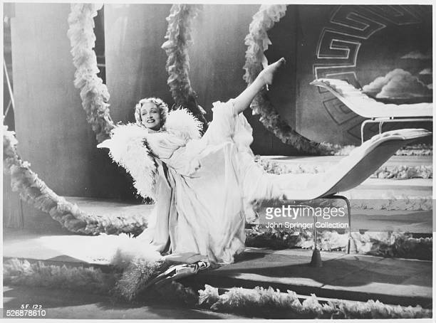 Marlene Dietrich as Charlotte Inwood in the 1950 Alfred Hitchcock thriller Stage Fright