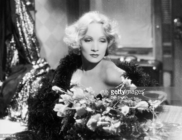 Marlene Dietrich as Madeline or Shanghai Lily in the film 'Shanghai Express', directed by Josef von Sternberg. Costumes by Travis Banton.
