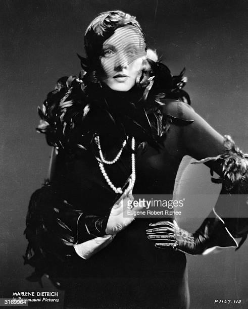 Marlene Dietrich as Shanghai Lily in the film 'Shanghai Express', directed by Josef von Sternberg. Costumes by Travis Banton.
