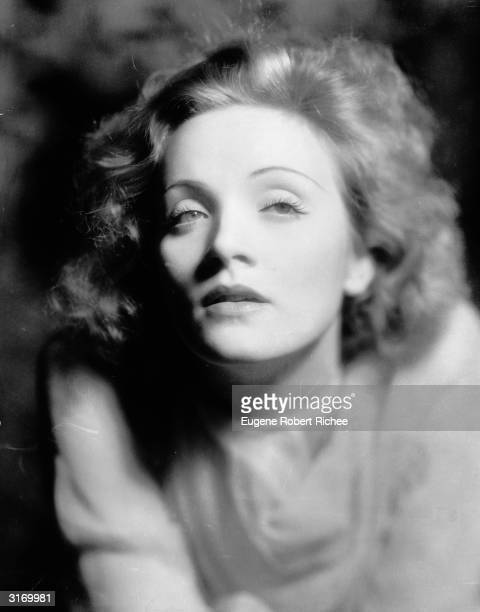 Marlene Dietrich at the time of her first Hollywood film, 'Morocco'.