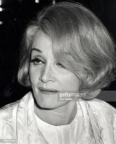 Marlene Dietrich during Marlene Dietrich Sighting at Rainbow Room Party October 9 1967 at Rainbow Room in New York City New York United States