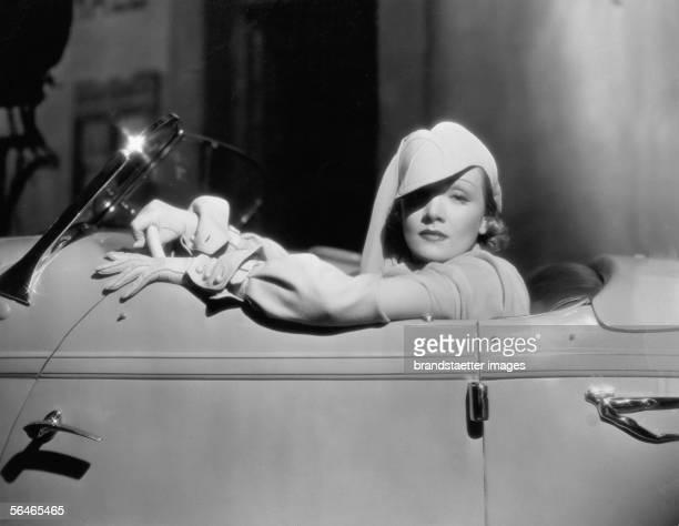 """Marlene Dietrich , german actress, in """"The devil is a woman"""". 1935. [Marlene Dietrich , deutsche Filmschauspielerin, in The Devil is a Woman. 1935.]"""