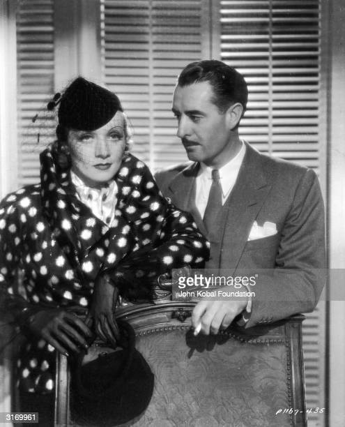 Marlene Dietrich with actor John Gilbert