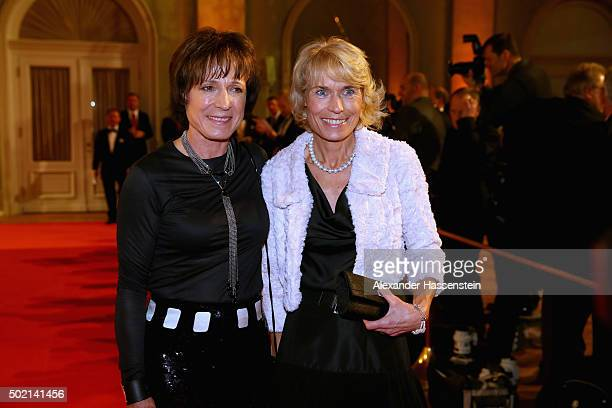 Marlene Epple arrives with Irene Epple for the Sportler des Jahres 2015 gala at Kurhaus Baden-Baden on December 20, 2015 in Baden-Baden, Germany.