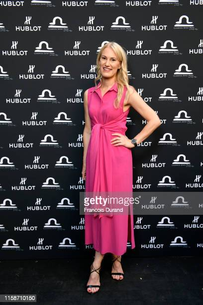 Marlene Harnois attends the launch of Hublot x Champion Spirit on June 27 2019 in Paris France