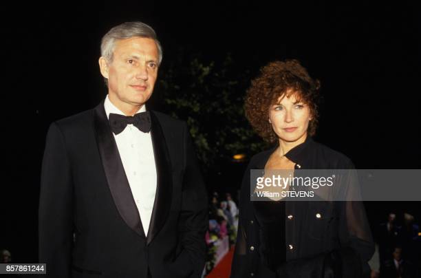 Marlene Jobert et son epoux Walter Green au Festival du Film Europeen le 5 octobre 1993 a La Baule France
