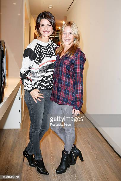 Marlene Lufen and Alina Merkau attend the BABOR Opening Cocktail on October 22 2015 in Berlin Germany