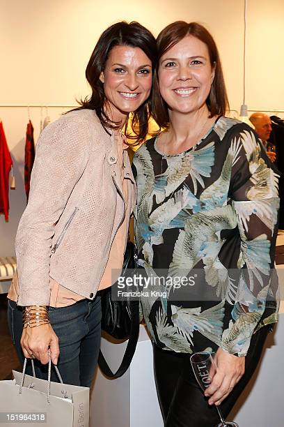 Marlene Lufen and shop owner Iris Jorde attend the opening of the 'Amorph' store on September 13 2012 in Berlin Germany