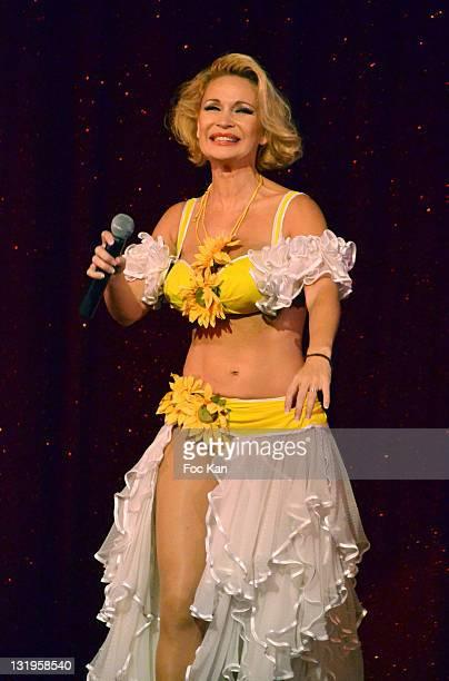 Marlene Mourreau and her latino company perform during the 'Paris Latino' Marlene Mourreau's Show Premiere at the Cabaret La Nouvelle Eve on November...