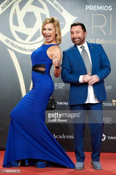 Marlene Mourreau and Jose Manuel Parada attends 'Iris Academia de Television' awards at Nuevo Teatro Alcala on November 18 2019 in Madrid Spain