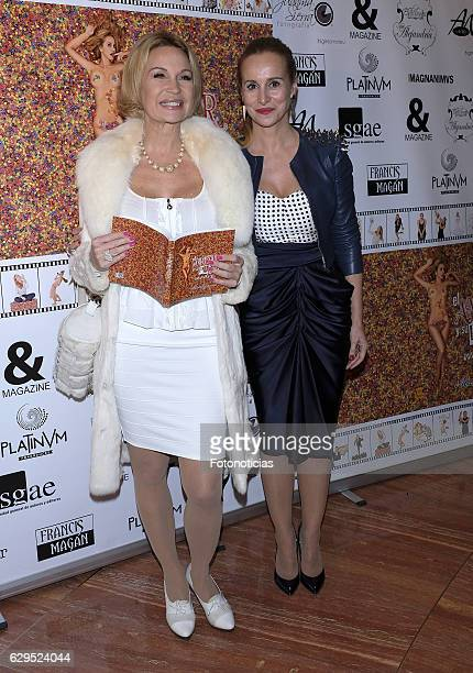 Marlene Mourreau and Mar Regueras attend the Mar Regueras book launch at the SGAE on December 13 2016 in Madrid Spain