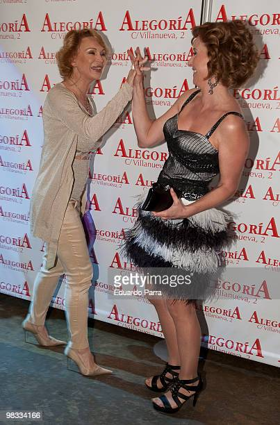 Marlene Mourreau and Mar Regueras attends Mar Regueras birthday party at Alquimia disco on April 8 2010 in Madrid Spain