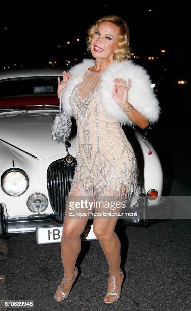 Marlene Mourreau attends her 48's birthday party at Moliere Cafe on April 19 2017 in Madrid Spain