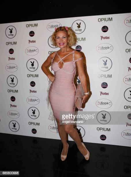 Marlene Mourreau attends Playboy Magazine launching at Opium Club on May 18 2017 in Madrid Spain