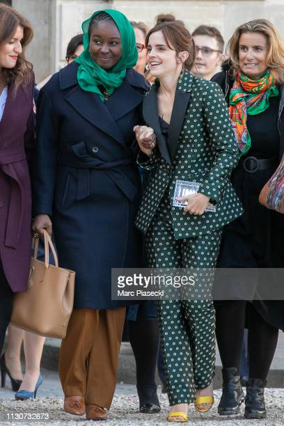Marlene Schiappa, Aissata Lam, Emma Watson,and Lisa Azuelos to attend the first meeting for G7 Advisory committee for Equality between women and men...