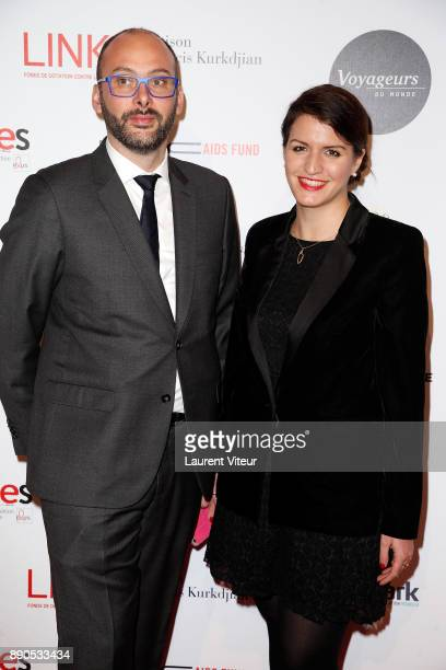Marlene Schiappa and guest attend 'Link for Aides' Charity Dinner at Pavillon Cambon Capucines on December 11 2017 in Paris France