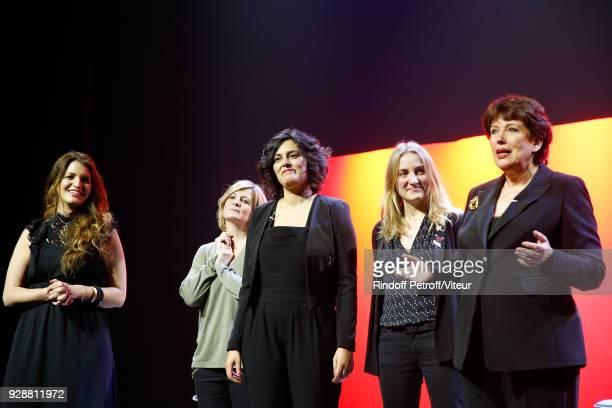 Marlene Schiappa Coralie Miller Myriam El Khomri MarieAstrid Perimony and Roselyne Bachelot Perform Les Monologues du Vagin during 'Paroles...