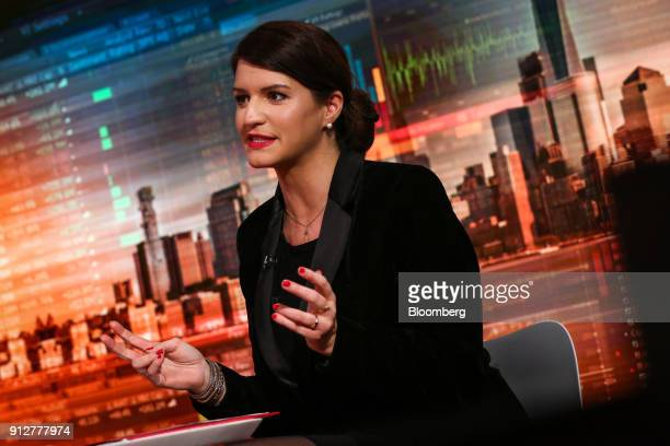 Marlene Schiappa France's minister for gender equality speaks during a Bloomberg Television interview in New York US on Wednesday Jan 31 2018...
