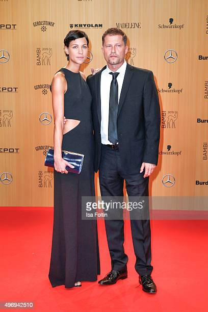 Marlene Shirley and Til Schweiger attend the Kryolan At Bambi Awards 2015 Red Carpet Arrivals on November 12 2015 in Berlin Germany