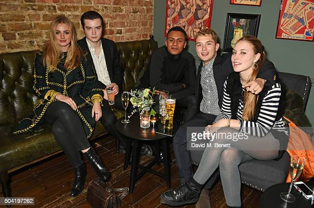 Marley Mackey Rafferty Law and Ella Dallaglio attend COACH Men's Fall/Winter 2016 Party hosted by Stuart Vevers at The Lady Ottoline on January 9...