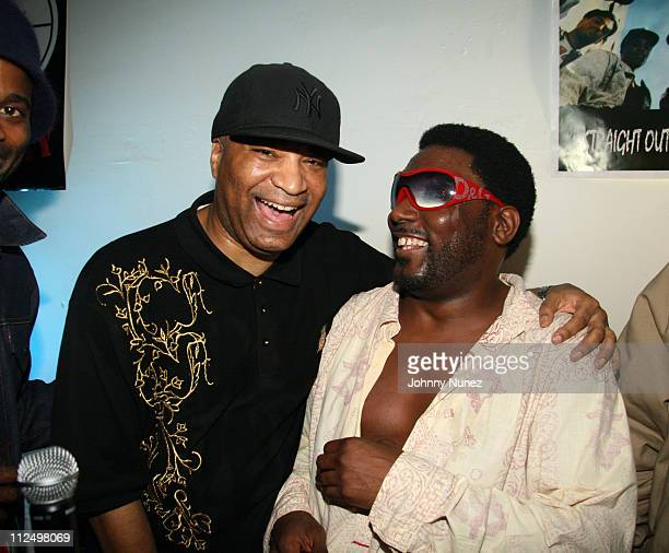 """Marley Marl and Big Daddy Kane during Smirnoff Presents """"The Parish House Party"""" at Loft 11 in New York City, New York, United States."""