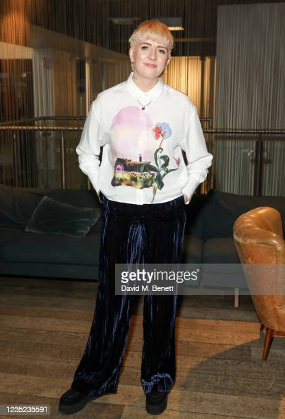 """Marley Morrison attends a preview screening of """"Sweetheart"""" at the BFI Southbank on September 13, 2021 in London, England."""