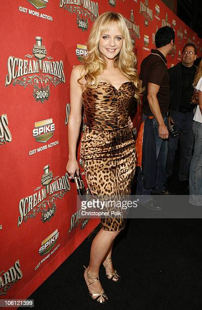 Marley Shelton during Spike TV's Scream Awards 2006 Red Carpet at Pantages Theater in Hollywood California United States