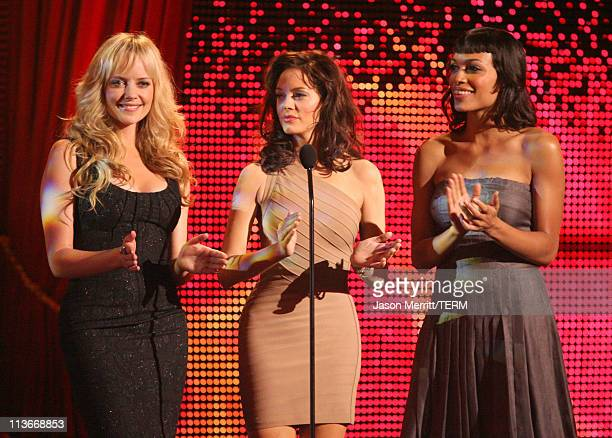 Marley Shelton Rose McGowan and Rosario Dawson during Spike TV's Scream Awards 2006 Show at Pantages Theater in Hollywood California United States
