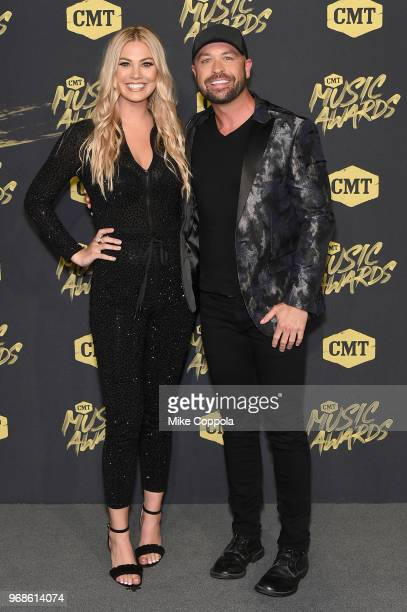 Marley Sherwood and Cody Alan attend the 2018 CMT Music Awards at Bridgestone Arena on June 6 2018 in Nashville Tennessee