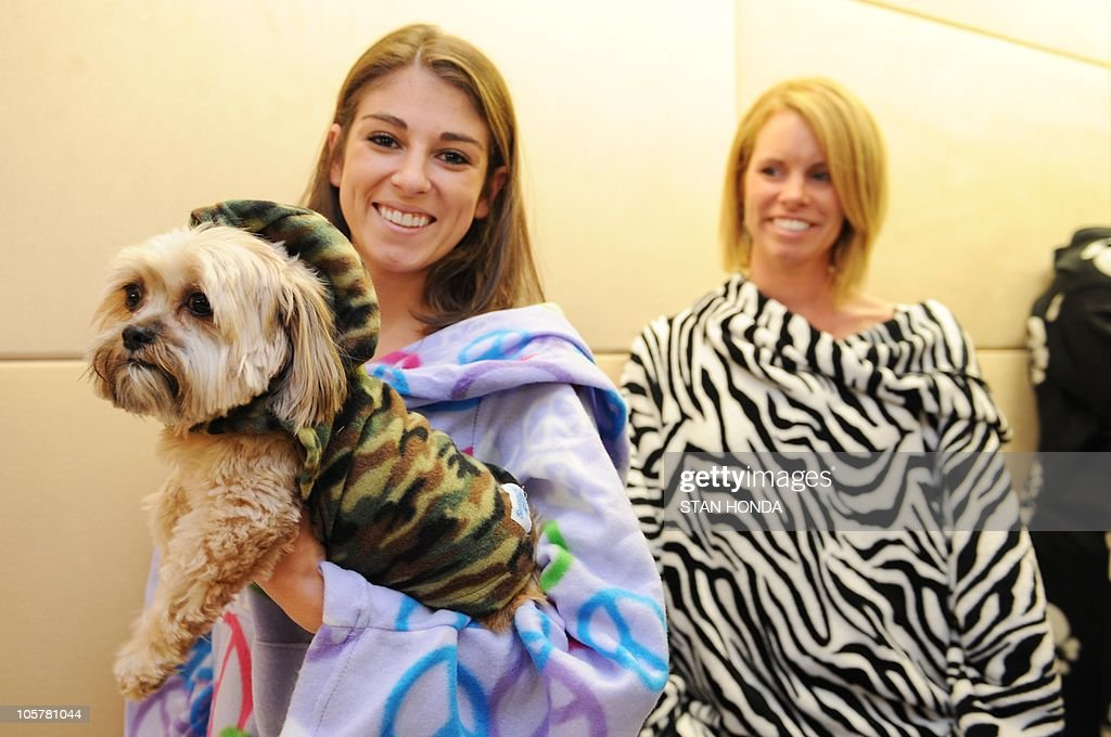 models in snuggies walk the blue carpet awards photos and images