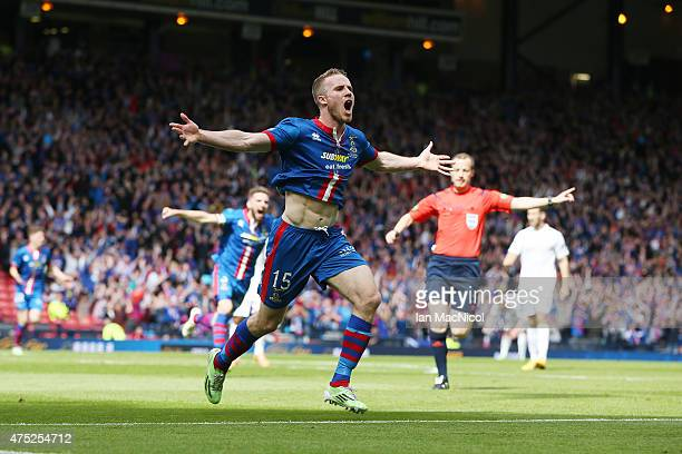 Marley Watkins of Inverness Caledonian Thistle celebrates after scoring during the William Hill Scottish Cup Final match between Falkirk and...