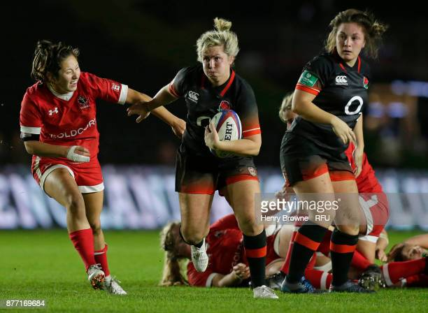 Marlie Packer of England during the Old Mutual Wealth Series match between England Women and Canada Women at Twickenham Stoop on November 21 2017 in...