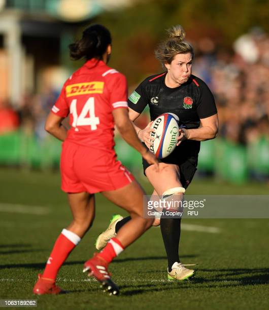 Marlie Packer of England during the Quilter International match between England Women and Canada Women at Castle Park on November 18 2018 in...