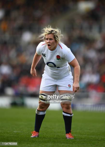 Marlie Packer of England during the Womens Six Nations match between England and Italy at Sandy Park on March 09 2019 in Exeter England