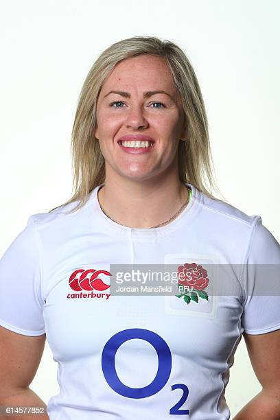 Marlie Packer of England poses for a portrait at Bisham Abbey on October 11 2016 in Marlow England
