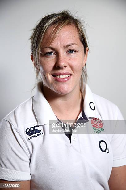 Marlie Packer poses for a portrait during the IRB Women's Rugby World Cup 2014 on August 12 2014 in Paris France