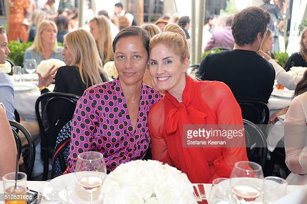 Marlien Rentmeester and Mary Alice Haney attend NETAPORTER Celebrates Women Behind The Lens at Chateau Marmont on February 26 2016 in Los Angeles...