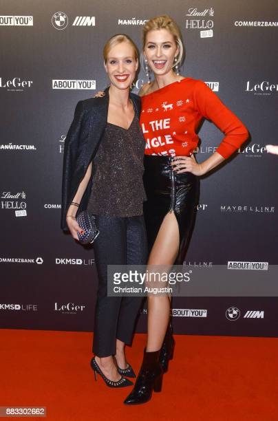 Marlies Pfeifhofer and Lena Gercke attend the Christmas Dinner Party of Lena Gercke at the Bar Hygge on November 30 2017 in Hamburg Germany