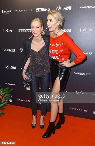 Marlies Pfeifhofer and Lena Gercke attend the Christmas Dinner Party of Lena Gercke at the Bar Hygge on November 30, 2017 in Hamburg, Germany.