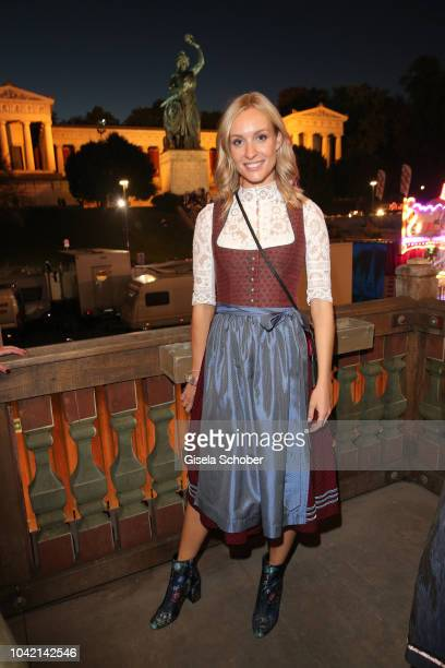 Marlies Pfeifhofer during the Oktoberfest 2018 at Kaeferschaenke tent at Theresienwiese on September 27 2018 in Munich Germany