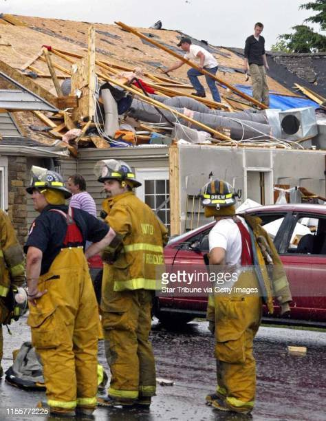 Marlin Levison Strib 06/11/05 Assign#96722 A tornado touched down in Hammond Wisconsin Saturday afternoon causing damage to a halfdozen homes IN THIS...