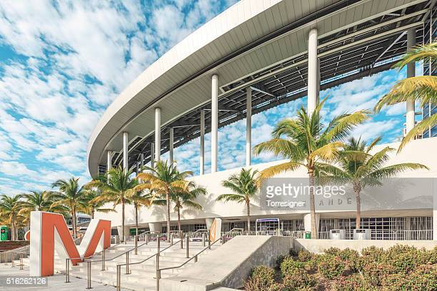 marlins park. miami baseball stadium. - letter m stock pictures, royalty-free photos & images