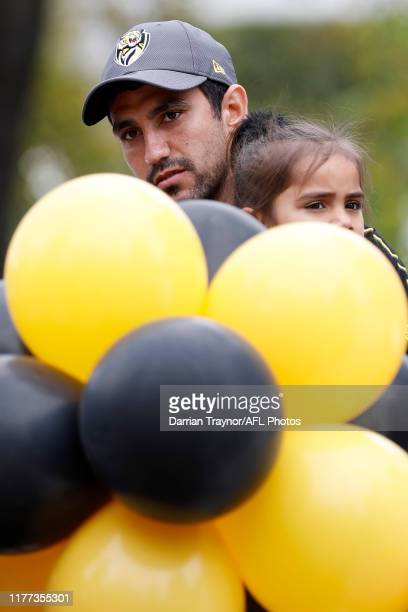Marlion Pickett of the Tigers looks on before the 2019 AFL Grand Final Parade on September 27, 2019 in Melbourne, Australia.