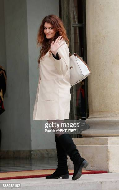 Marlène Schiappa France's state secretary for Equality between Men and Women arrives for a cabinet meeting at the Elysée Palace in Paris France on...