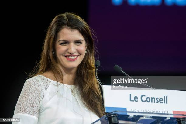Marlène Schiappa give a speech during the council of the Republic on the Move party at Eurexpo Lyon France on November 18 2017 Christophe Castaner...