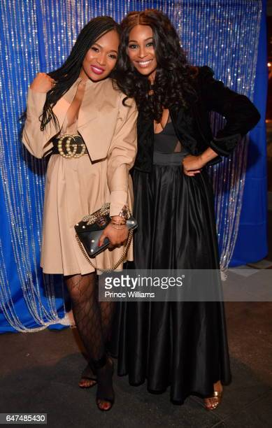 Marlo Hampton and Cynthia Bailey attend Kontrol Magazine Women of Style at Suite Lounge on March 2 2017 in Atlanta Georgia